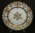 ANTIQUE NIPPON PORCELAIN PLATE CHARGER HAND PAINTED GOLD MORIAGE BEADED 1911 10