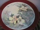 Hand Painted decorated plate made in Germany with Flowers