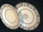 Two Vintage Royal China Inc Dinner Plates Underglaze