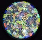 Antique Murano Millefiori Paperweight, Close Packed Canes, Over 100 years old