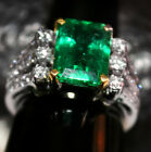 AAA+ DESIGNER NATURAL GREEN ZAMBIA EMERALD GEMSTONE UNTREATED GOLD DIAMOND RING
