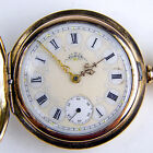 Elgin 1897 Hunters Case Block H Pocket Watch in 14kt Tri-Color Gold (sku1344)