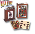 Playing Cards, Old West Replica Deck Gold Gilded