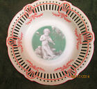Germany Porcelain Cupid With A Violin Round Reticulated Bowl
