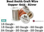 Beadsmith Craft Wire GOLD SILVER and COPPER Tarnish Resistant Craft Wire