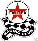 Caltex Racing club vintage sticker old rare obsolete