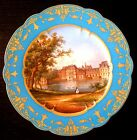 A Sevres plate from 1864 circa, the Chateau de FONTAINEBLEU /marked