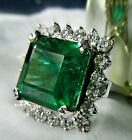 AAA+ TOP TOP DESIGNER + 15.70 CARAT ZAMBIA EMERALD UNTREATED GOLD RING,CERTIFIED
