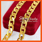 24K YELLOW GOLD GF N05 DIAMOND CUT CURB RING LINK MENS WOMEN GIFT SOLID NECKLACE