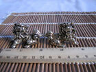The Chinese fengshui pair of tibetan silver carved foo dog lion statue