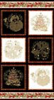 Season's Greetings by Benartex Quilt Fabric Panel 100% Cotton Sewing Craft