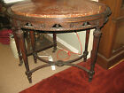 Antique Oval Carved Victorian Marble Top Parlor Table~Original Finish c1860