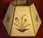 Pretty, Vintage, Pressed Flowers on Parchment Paper Lamp Shade for Globe Lamp
