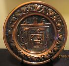 Vintage Coppercraft Guild Copper Repousse Wall Art Hanging Plate Plaque Made USA