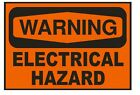 Warning Electrical Hazard Sticker Safety Sign Sign D655 OSHA