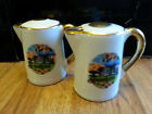 Graceland Souvenir Teapots with Gold Paint Trim Salt and Pepper Shakers