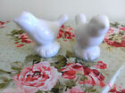 Bird salt and pepper shakers white new in pkg. porcelain china ceramic