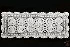 Hand Knitted Vintage Crochet Lace Doilies Placemat Table Runner 30x12