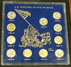 COMPLETE SET OF CHOICE UNCIRCULATED WARTIME SILVER NICKELS! #CBWN7