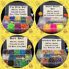3000 Rubber Band Gift Set fit Rainbow Loom Metal Hook Organize Storage Case Clip