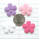 From USA 60 pcs x 1 Felt Spring Flower Posy Padded Appliques for Bows ST628A