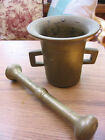 Vintage /Antique Heavy  LARGE SOLID Brass Mortar And Pestle SET 6 lbs