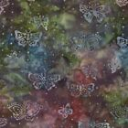 Green Red Butterfly Enchanted Pond Batik Fabric - Moda Fabric - Holly Taylor-BTY