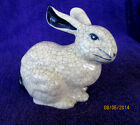 Vintage Dedham Pottery Large Sitting Bunny Rabbit Figurine Crackle Finish 1992
