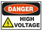 Danger High Voltage Sticker Safety Sticker Sign D180 OSHA