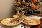 FITZ & FLOYD Tuscan Villa ~ 3 sectioned Serving Tray/Platter/Server/Dish