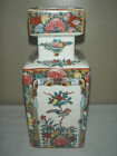 ANTIQUE VINTAGE JAPANESE / CHINESE  HAND PAINTED VASE FIGURAL BUTTERFLIES SIGNED