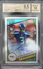 BGS 9.5 2012 TOPPS CHROME RUSSELL WILSON #14 RC (10 15) 1984 REFRACTORS AUTO 10