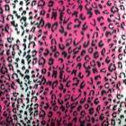 Pink  White Leopard Polar Fleece Fabric BY THE YARD