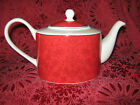 222 FIFTH CHRISTMAS DAMASK TEAPOT - NEW  - IMPERFECT