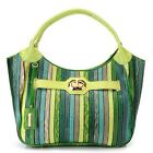 Madi Claire Embossed Leather Striped Hobo Handbag - Multi Colors Value $81.00