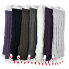 New Fashion Women Slouch Cable Knit Arm Warmer Fingerless Gloves Winter US Stock