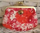 NWT Coach Peyton Floral Frame Kisslock Coin Purse
