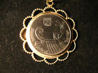 New Coin Pendant Necklace With Free Chain - Ancient Galleon Israeli Coin