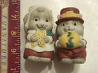 Cute Pilgrim mice salt and pepper shaker Thanksgiving theme