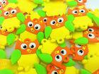 HOT 10PCS Owl Rubber Charms For Rainbow Loom Bands for bracelet