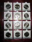 Kennedy Half complete Satin set 12 coins in a Dansco page ready for your album!