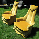 RARE Vtg 1950's Drexel Hollywood Regency Club Lounge Chairs Mid Century Modern