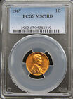 1967 LINCOLN CENT 1C PENNY PCGS MS67 RD RED - POPULATION 15 WITH NONE HIGHER!!!
