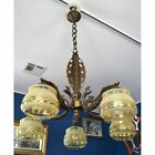 Stunning French Bronze Art Deco Chandelier with Peacocks, ca. 1930