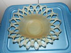 Vintage Scalloped edged Butterscotch Frosted Fruit Bowl