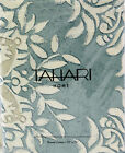 Tahari Fabric Cotton Blend Shower Curtain Diamond Damask Seafoam Ivory - NEW