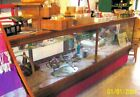 LARGE VINTAGE COUNTRY STORE DISPLAY SHOWCASE WITH EXTRA GLASS TOP
