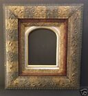 ANTIQUE ORNATE PICTURE FRAME 8X10 GOLD SILVER LEAF ARCHED GOLD MAT WOOD GESSO