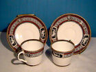 Antique *RARE PAIR* ~Demon Face & Horse Dragon ~Tea Cup Saucer ~MINTON 1840-50~