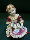 VINTAGE STATUE OF GIRL READING ORION MADE IN JAPAN slg171